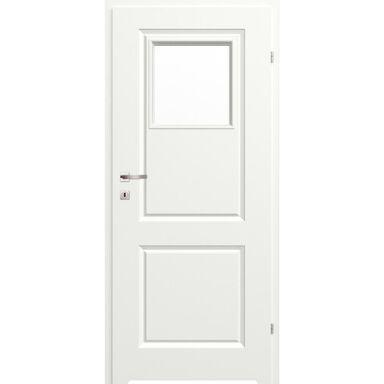 Skrzydło drzwiowe łazienkowe z szybą z podcięciem wentylacyjnym Morano II Białe 80 Prawe Classen