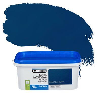 Farba wewnętrzna do ścian i sufitów EMULSJA 2.5 l Kobaltowa głębia LUXENS