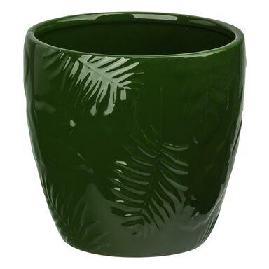 Osłonka ceramiczna 14 cm zielona DOLOMIT KAEMINGK