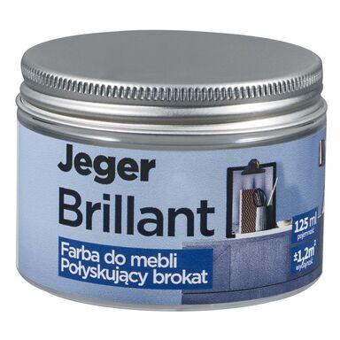 Farba do mebli BRILLANT 125 ml Srebro Połyskujący brokat JEGER