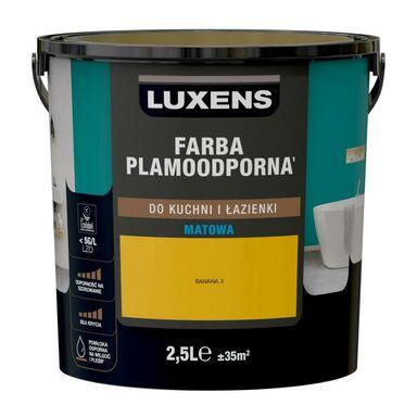 Farba wewnętrzna PLAMOODPORNA do kuchni i łazienki 2.5 l Banana 3 LUXENS