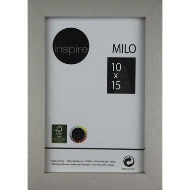 Ramka na zdjęcia MILO 10 x 15 cm srebrna MDF INSPIRE