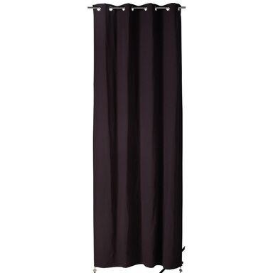 Zasłona ELEMA czarna 140 x 280 cm na przelotkach INSPIRE