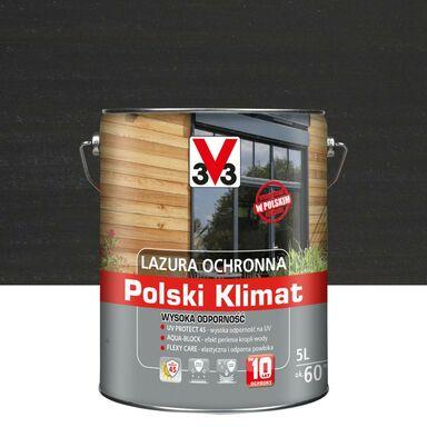 Lazura do drewna Polski klimat 5 l Antracyt V33