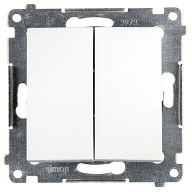 Włącznik podwójny SIMON 54  Biały  SIMON