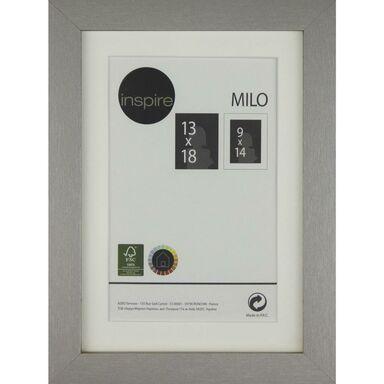 Ramka na zdjęcia MILO 13 x 18 cm srebrna MDF INSPIRE