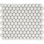 Mozaika Hexa White Glossy 26.5 x 31 Artens