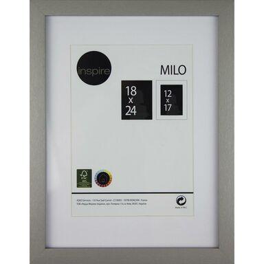 Ramka na zdjęcia MILO 18 x 24 cm srebrna MDF INSPIRE