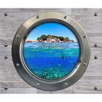 Obraz szklany WALL WYSPA 2 el. 25 x 60 cm = 50 x 60 cm CERAMIKA COLOR
