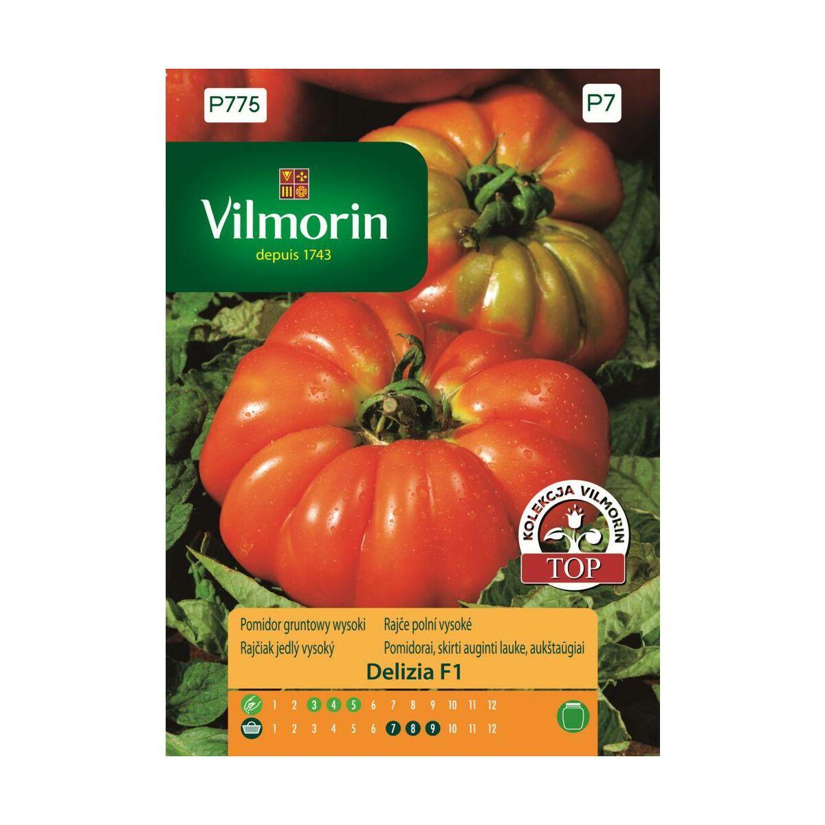 Pomidor gruntowy wysoki DELIZIA F1 nasiona tradycyjne 0.1 g VILMORIN