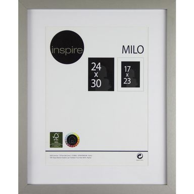 Ramka na zdjęcia MILO 24 x 30 cm srebrna MDF INSPIRE