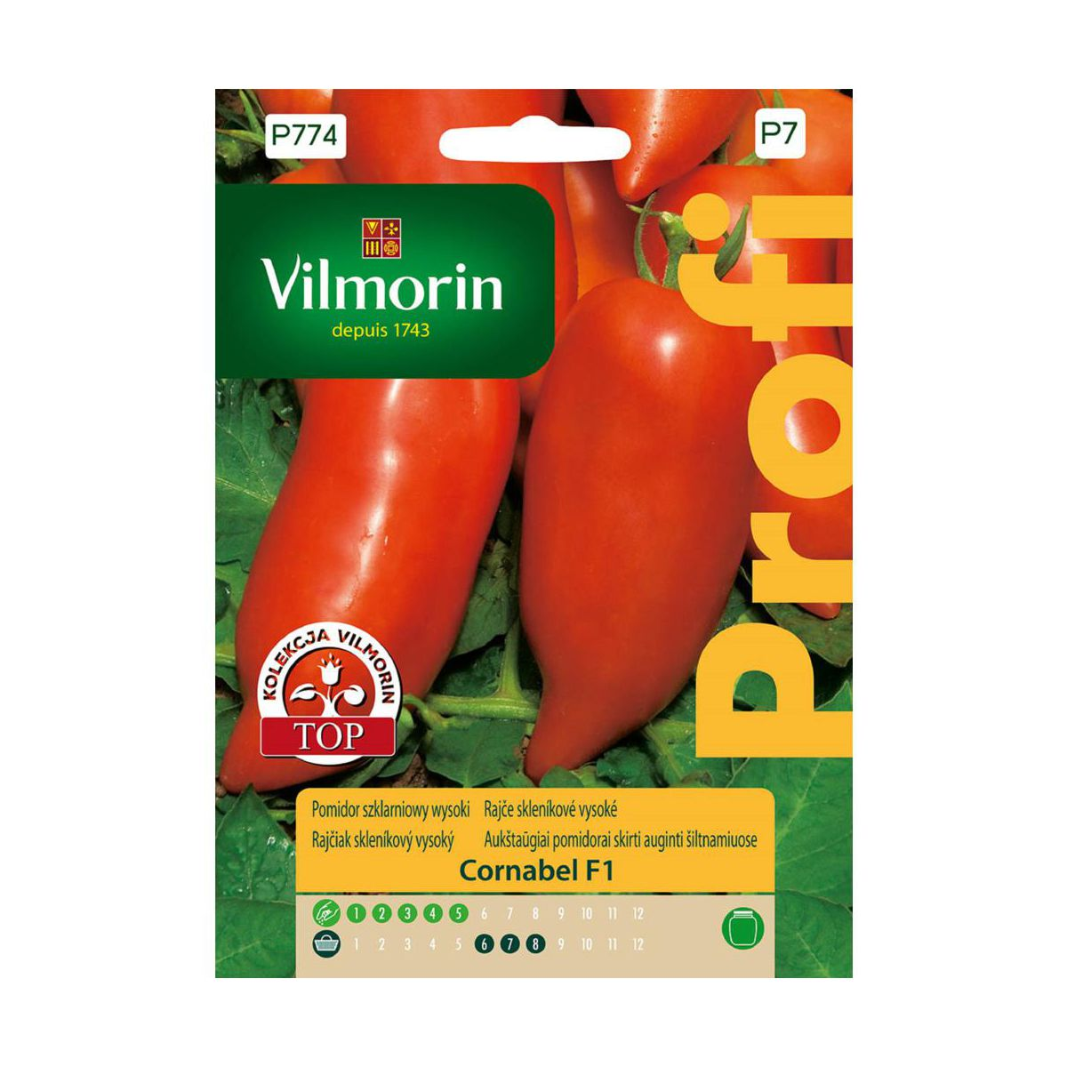 Pomidor szklarniowy wysoki CORNABEL F1 nasiona tradycyjne 0.1 g VILMORIN