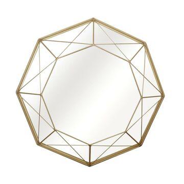 Lustro dekoracyjne FILAR BRASS złote śr. 50 cm INSPIRE