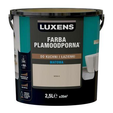 Farba Luxens Plamoodporna do kuchni i łazienki Moka 6 2.5 l