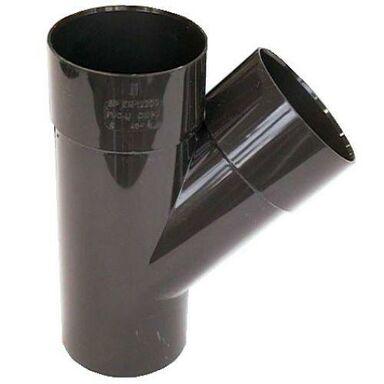 Trójnik rynnowy 80 mm/45° Brązowy SCALA PLASTICS