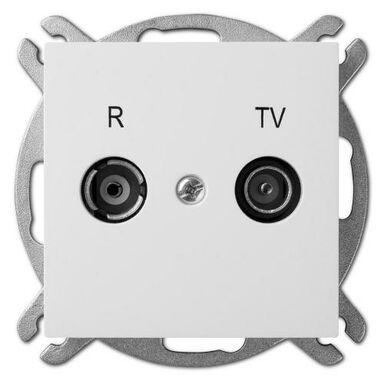 Gniazdo RTV KOŃCOWE SENTIA Biały ELEKTRO-PLAST