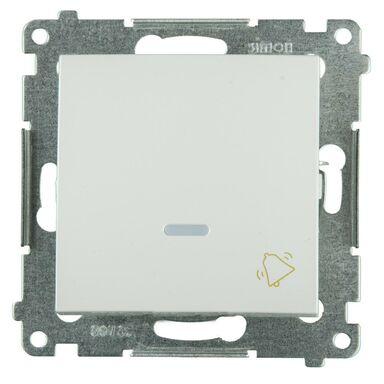 Przycisk do dzwonka podświetlany SIMON 54  biały  SIMON