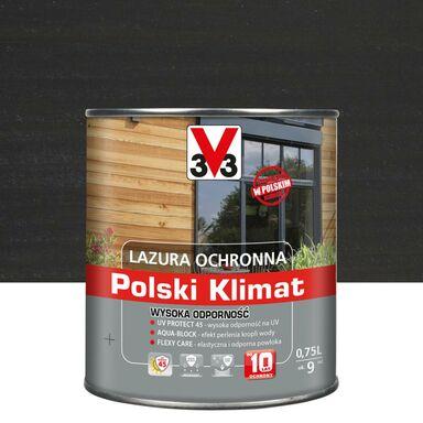 Lazura do drewna Polski klimat 0.75 l Antracyt V33