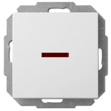 Włącznik pojedynczy Z PODŚWIETLENIEM SENTIA  Biały  ELEKTRO-PLAST
