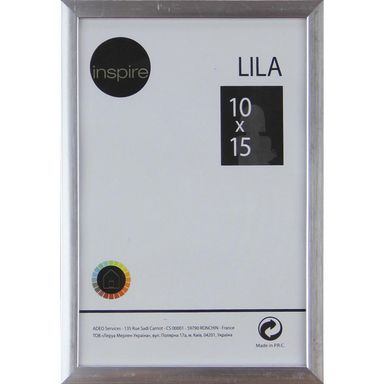 Ramka LILA 10 x 15 cm srebrna INSPIRE