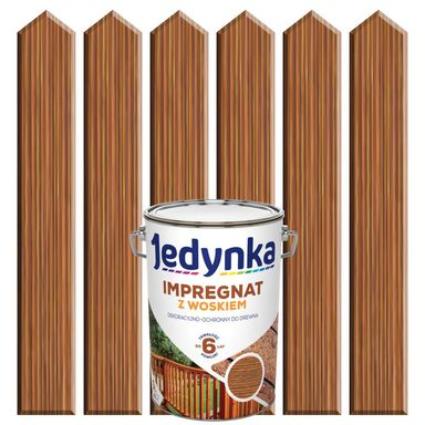 Impregnat do drewna Z WOSKIEM 5 l Palisander JEDYNKA