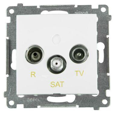 Gniazdo RTV KOŃCOWE SIMON54  Biały  KONTAKT SIMON