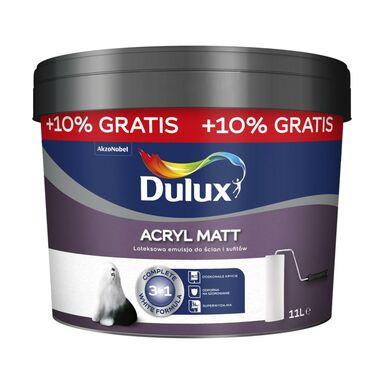 Farba wewnętrzna ACRYL MATT 10 l + 10% biała DULUX