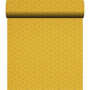 Tapeta w heksagony STITCH żółta winylowa na flizelinie