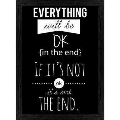 Obraz EVERYTHING WILL BE OK 27.8 x 36.5 cm