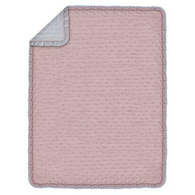 Narzuta dwustronna RITA różowo-szara 200 x 220 cm