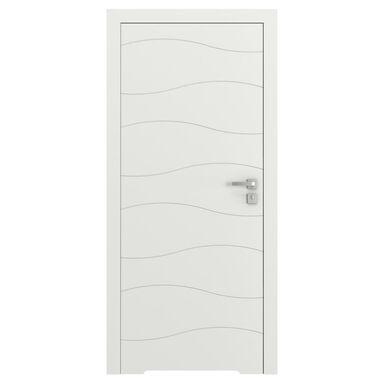 Skrzydło drzwiowe bezprzylgowe z podcięciem wentylacyjnym VECTOR X Białe 90 Lewe PORTA
