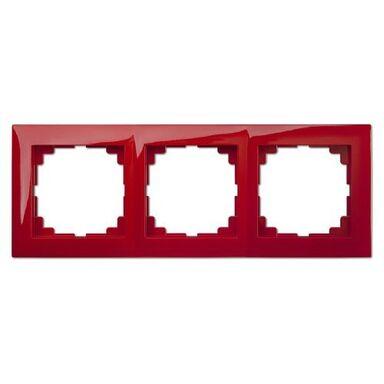 Ramka potrójna SENTIA Czerwony ELEKTRO-PLAST