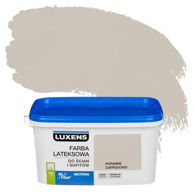 Farba wewnętrzna EMULSJA 5 l Poranne cappuccino LUXENS