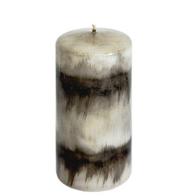 Świeca pieńkowa Santa Ana szaro-czarna wys. 12 cm
