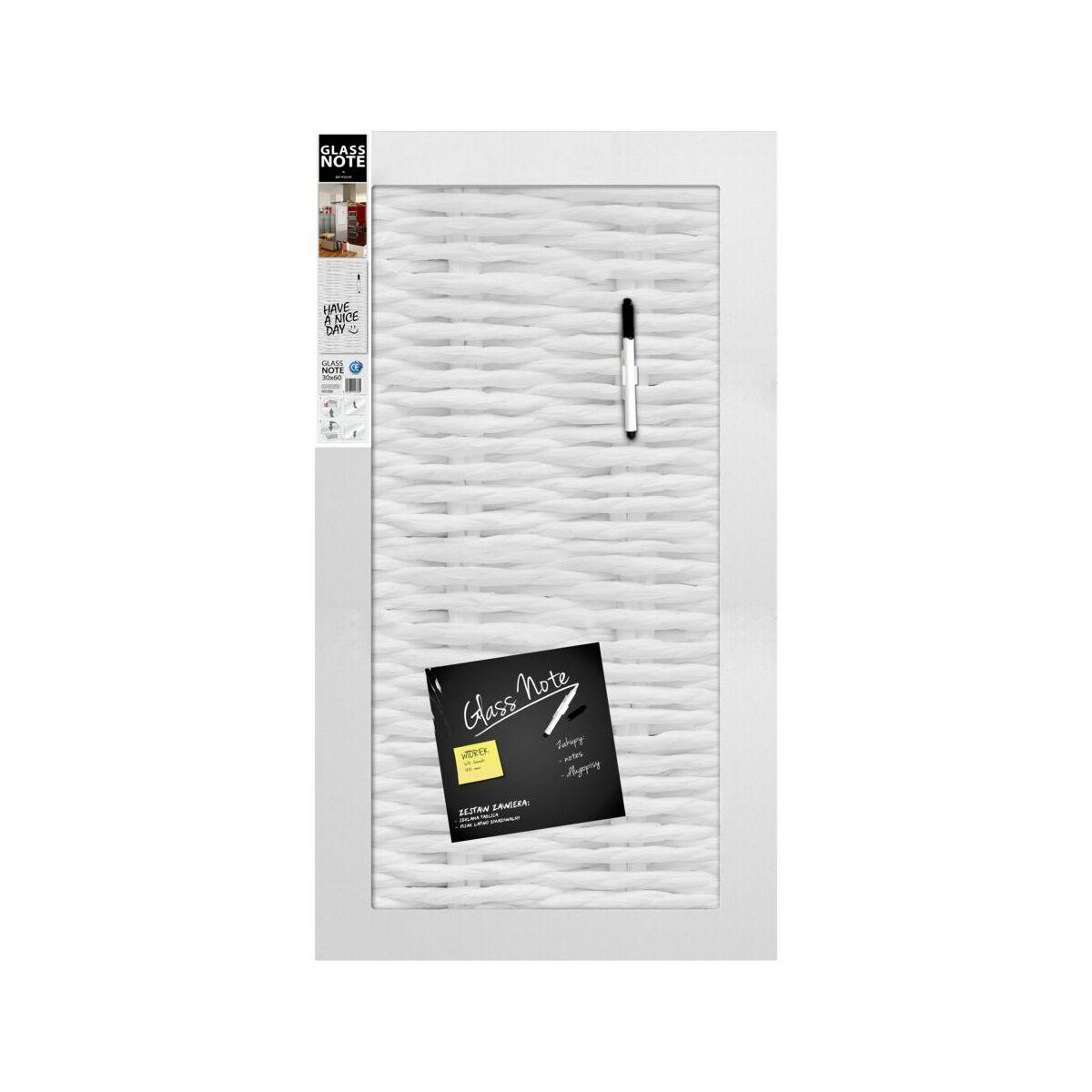 Szklana Tablica Magnetyczna Wicker 30 X 60 Cm Z Pisakiem I Magnesami Tablice Memo I Magnetyczne W Atrakcyjnej Cenie W Sklepach Leroy Merlin