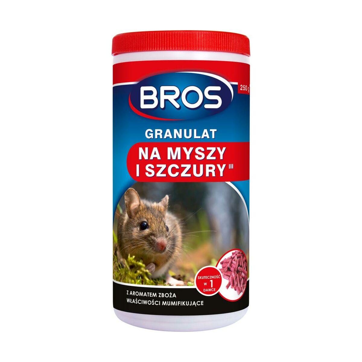 Środek na myszy, szczury 250 g BROS