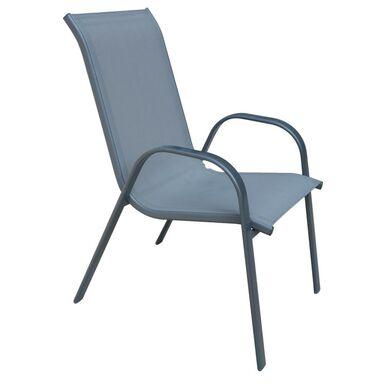 Krzesło ogrodowe CINO metalowe antracytowe