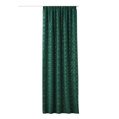Zasłona GLAMMY zielona 140 x 250 cm na taśmie