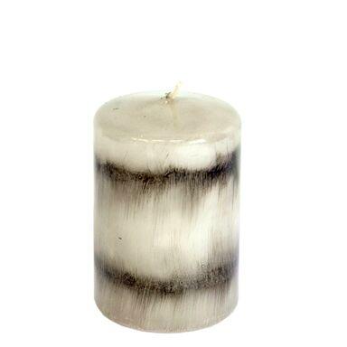 Świeca pieńkowa Santa Ana szaro-czarna wys. 9 cm