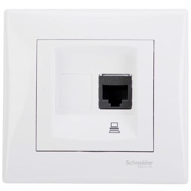Gniazdo komputerowe pojedyncze SEDNA  biały  SCHNEIDER ELECTRIC