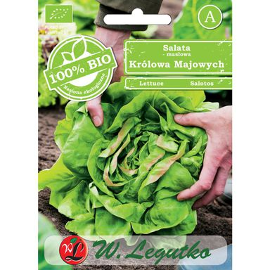 Sałata głowiasta masłowa MAY KING BIO nasiona ekologiczne 0.5 g W. LEGUTKO