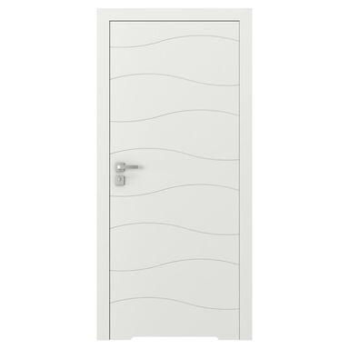Skrzydło drzwiowe bezprzylgowe z podcięciem wentylacyjnym VECTOR X Białe 90 Prawe PORTA