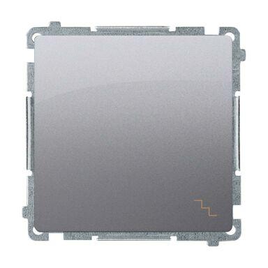Włącznik schodowy BASIC  Srebrny  SIMON