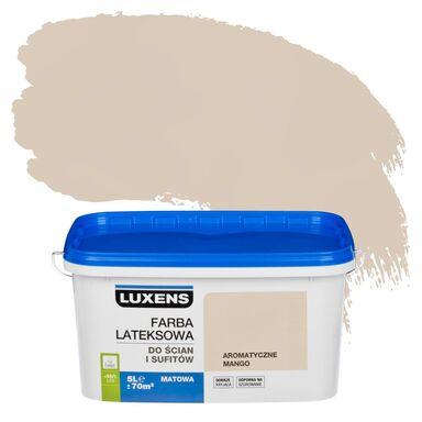 Farba wewnętrzna do ścian i sufitów EMULSJA 5 l Aromatyczne mango LUXENS