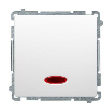 Włącznik pojedynczy Z PODŚWIETLENIEM BASIC  Biały  SIMON