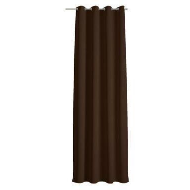 Zasłona Dolce czekoladowa 140 x 250 cm na przelotkach