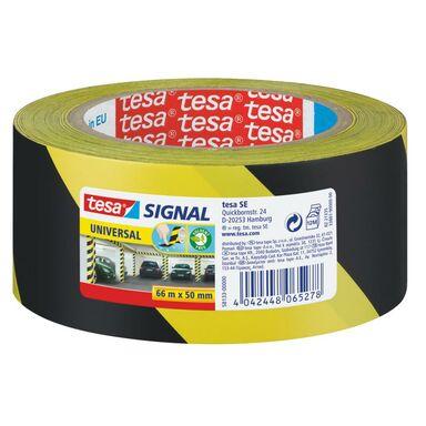 Taśma sygnalizacyjna 66 m x 50 mm SIGNAL żółto-czarna TESA