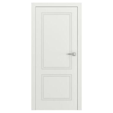 Skrzydło drzwiowe bezprzylgowe VECTOR V Białe 80 Lewe PORTA