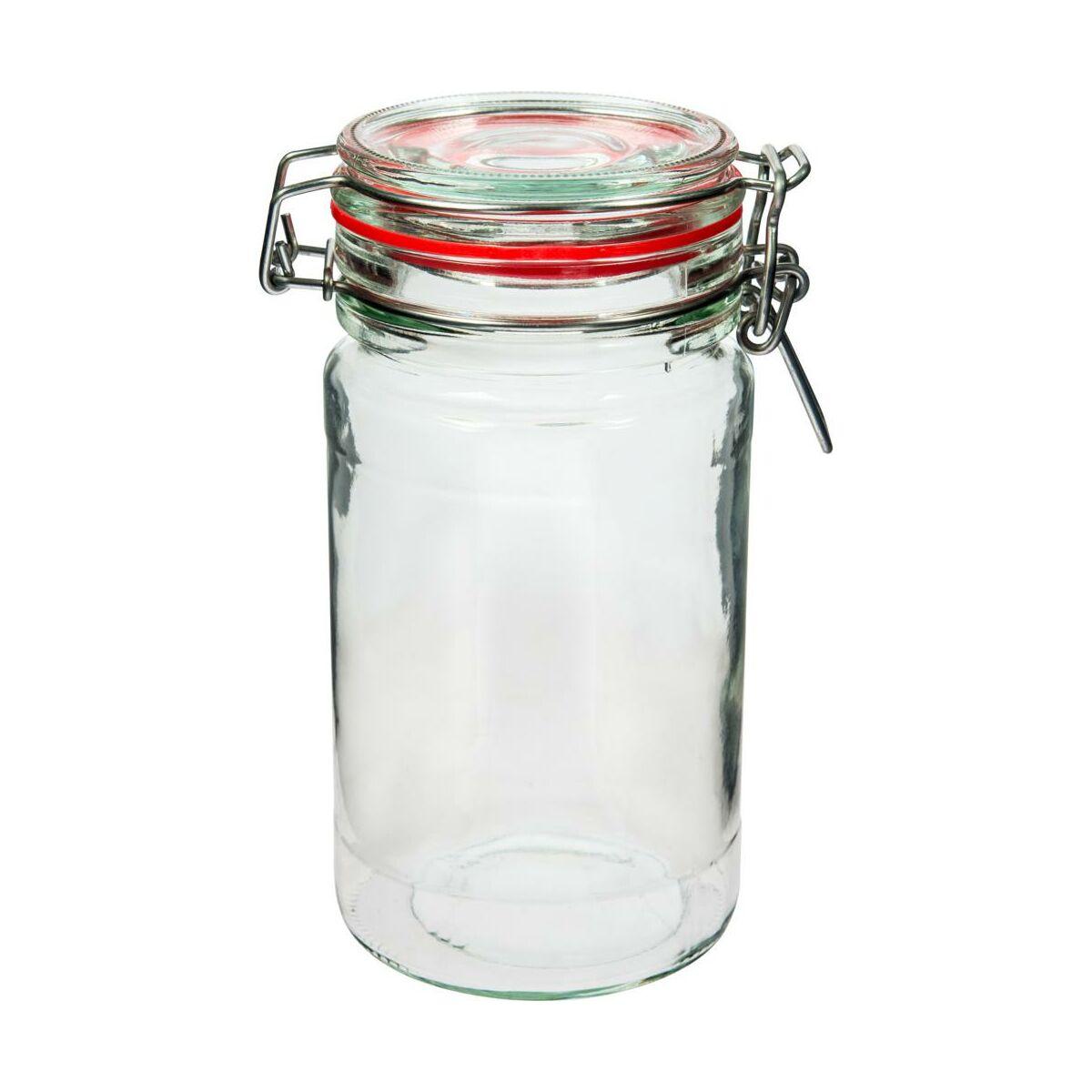 Słój szklany 0,8 l z zamknięciem mechanicznym SLIM BROWIN