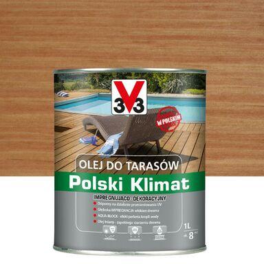 Olej do tarasów Polski Klimat 1 l teak V33